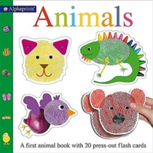 Alphaprint Animals Flashcard Book, Hardback Book