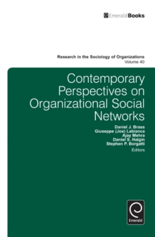 Contemporary Perspectives on Organizational Social Networks, Hardback Book