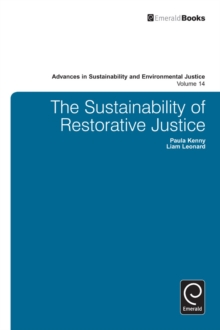 The Sustainability of Restorative Justice, Hardback Book