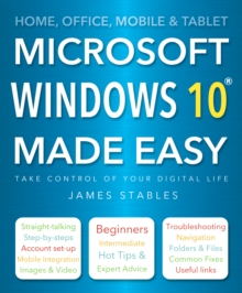 Windows 10 Made Easy, Paperback Book