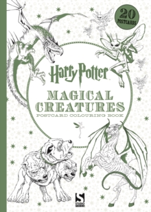 Harry Potter Magical Creatures Postcard Colouring Book : 20 postcards to colour, Paperback / softback Book