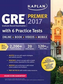 GRE Premier 2016 with 6 Practice Tests, Paperback / softback Book