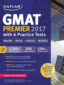Kaplan GMAT Premier 2016 with 6 Practice Tests, Paperback / softback Book