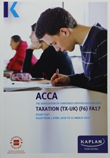F6 Taxation (FA17) - Complete Text, Paperback Book