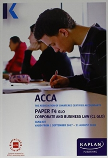 F4 Corporate and Business Law - Exam Kit, Paperback Book