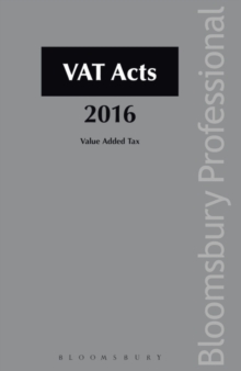 VAT Acts, Paperback Book