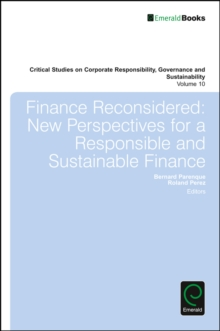 Finance Reconsidered : New Perspectives for a Responsible and Sustainable Finance, Hardback Book