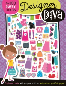 Designer Dina Puffy Sticker Book, Paperback Book
