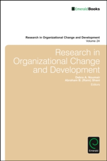 Research in Organizational Change and Development, Hardback Book