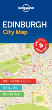 Lonely Planet Edinburgh City Map, Sheet map, folded Book