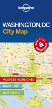 Lonely Planet Washington DC City Map, Sheet map, folded Book