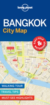 Lonely Planet Bangkok City Map, Sheet map, folded Book