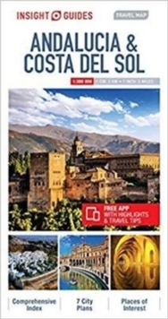 Insight Guides Travel Map Andalucia & Costa del Sol, Sheet map Book