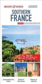 Insight Guides Travel Map Southern France, Sheet map Book
