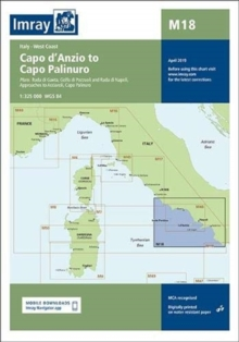 Imray Chart M18 : Capo d'Anzio to Capo Palinuro, Sheet map, folded Book