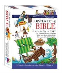 Wonders of Learning Box Set - Old & New Testament Reference Books, Sticker Book, Colouring Wall Chart and Model Ark Kit, Book Book