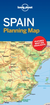 Lonely Planet Spain Planning Map, Sheet map, folded Book