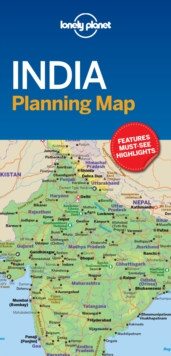 Lonely Planet India Planning Map, Sheet map, folded Book