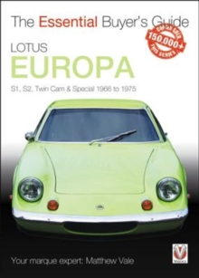 Lotus Europa : S1, S2, Twin-cam & Special 1966 to 1975, Paperback / softback Book