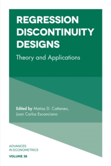 Regression Discontinuity Designs : Theory and Applications, Hardback Book