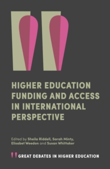 Higher Education Funding and Access in International Perspective, Paperback / softback Book
