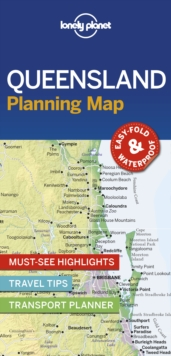 Lonely Planet Queensland Planning Map, Sheet map, folded Book