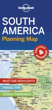 Lonely Planet South America Planning Map, Sheet map, folded Book