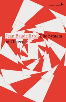 The System of Objects, Paperback / softback Book