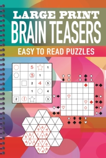 Large Print Brain Teasers, Spiral bound Book