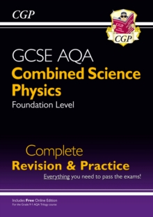 New 9-1 GCSE Combined Science: Physics AQA Foundation Complete Revision & Practice with Online Edn, Paperback / softback Book