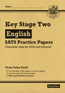 New KS2 English SATS Practice Papers: Pack 5 (for the tests in 2019), Paperback / softback Book