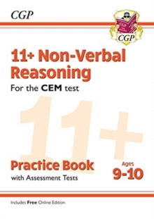 11+ CEM Non-Verbal Reasoning Practice Book & Assessment Tests - Ages 9-10 (with Online Edition), Paperback / softback Book