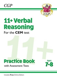 New 11+ CEM Verbal Reasoning Practice Book & Assessment Tests - Ages 7-8 (with Online Edition), Paperback / softback Book