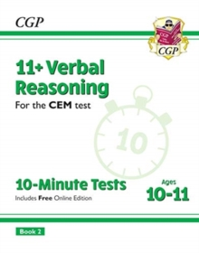 New 11+ CEM 10-Minute Tests: Verbal Reasoning - Ages 10-11 Book 2 (with Online Edition), Paperback / softback Book
