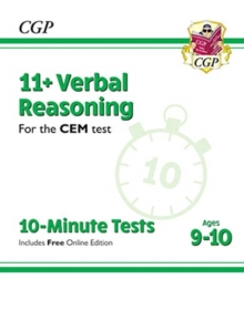New 11+ CEM 10-Minute Tests: Verbal Reasoning - Ages 9-10 (with Online Edition), Paperback / softback Book