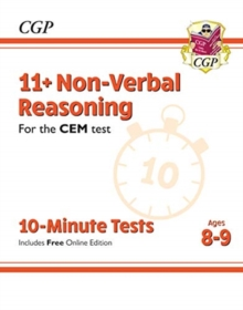 New 11+ CEM 10-Minute Tests: Non-Verbal Reasoning - Ages 8-9 (with Online Edition), Paperback / softback Book