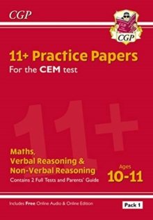 New 11+ CEM Practice Papers: Ages 10-11 - Pack 1 (with Parents' Guide & Online Edition), Paperback / softback Book