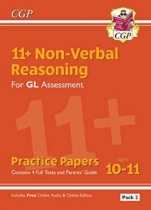 New 11+ GL Non-Verbal Reasoning Practice Papers: Ages 10-11 Pack 2 (inc Parents' Guide & Online Ed), Paperback / softback Book