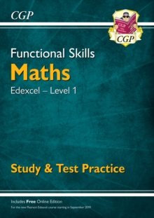 New Functional Skills Edexcel Maths Level 1 - Study & Test Practice (with Online Edition), Paperback / softback Book