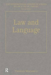Law and Language, Hardback Book