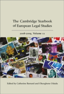 Cambridge Yearbook of European Legal Studies, Hardback Book
