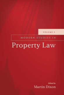 Modern Studies in Property Law : 5, Hardback Book
