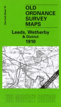 Leeds, Wetherby and District 1910 : One Inch Sheet 070, Sheet map, folded Book