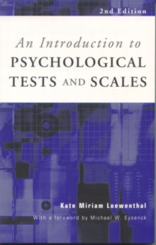 An Introduction to Psychological Tests and Scales, Paperback / softback Book