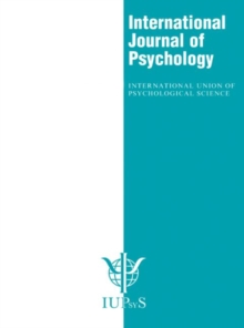 XXIX International Congress of Psychology: Abstracts : A Special Issue of the International Journal of Psychology, Paperback Book