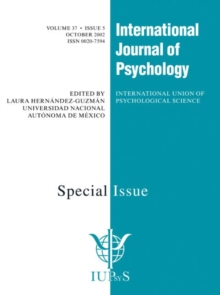Prospective Memory: The Delayed Realization of Intentions : A Special Issue of the International Journal of Psychology, Paperback / softback Book