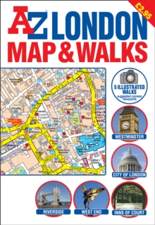 A-Z London Map and Walks, Sheet map, folded Book