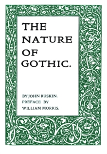 The Nature of Gothic, Paperback Book