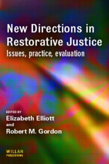 New Directions in Restorative Justice, Paperback / softback Book