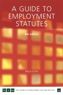 A Guide to Employment Statutes, Paperback / softback Book